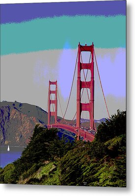 Golden Gate Bridge Metal Print by Charles Shoup