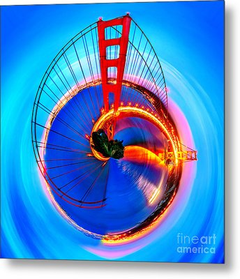 Golden Gate Bridge Circagraph Metal Print by Az Jackson