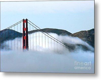 Golden Gate Bridge Clouds Metal Print