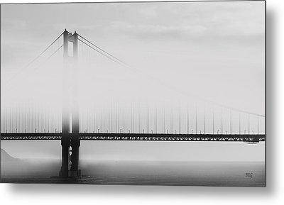 Golden Gate Bridge - Fog And Sun Metal Print by Ben and Raisa Gertsberg