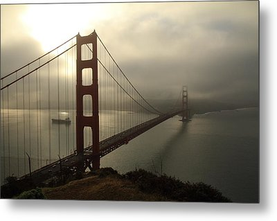 Metal Print featuring the photograph Golden Gate Bridge Fog Lifting by Scott Rackers