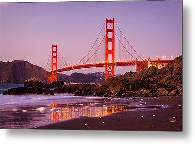 Golden Gate Bridge From Baker Beach Metal Print by Alexis Birkill