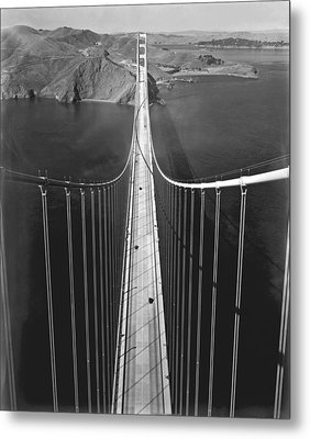 Golden Gate Bridge In 1937 Metal Print by Underwood Archives