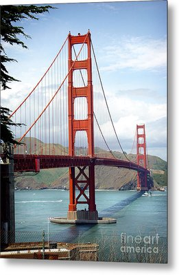 Metal Print featuring the photograph Golden Gate Bridge by Michael Edwards
