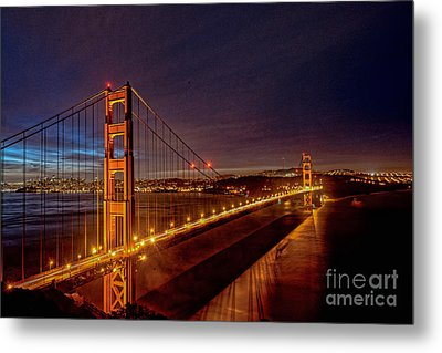 Golden Gate Bridge Metal Print by Peter Dang