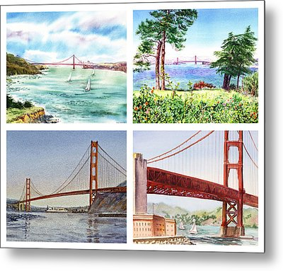 Golden Gate Bridge San Francisco California Metal Print by Irina Sztukowski