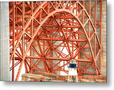 Golden Gate Bridge Supports Metal Print by Deborah Smolinske