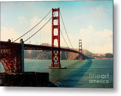 Golden Gate Bridge Metal Print by Sylvia Cook