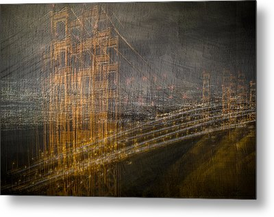 Golden Gate Chaos Metal Print