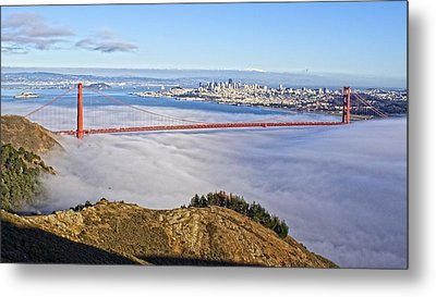 Metal Print featuring the photograph Golden Gate by Dave Files