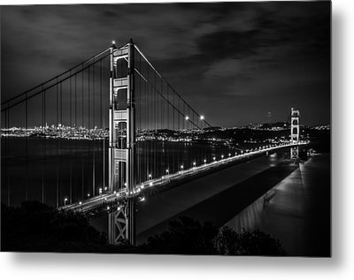 Golden Gate Evening- Mono Metal Print