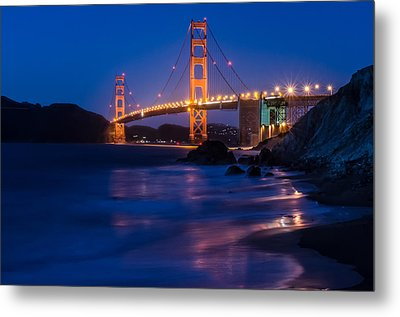 Golden Gate Glow Metal Print