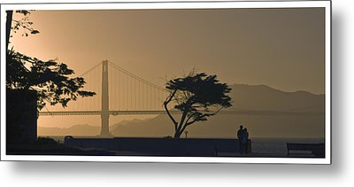 Golden Gate Lovers Metal Print
