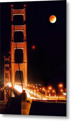 Golden Gate Night Metal Print by DJ Florek
