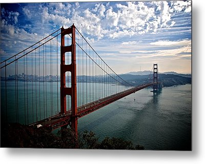 Golden Gate Open Metal Print by Eric Tressler