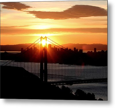 Metal Print featuring the photograph Golden Gate Sunrise 12-2-11 by Christopher McKenzie