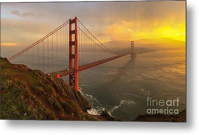 Golden Gate Sunset Metal Print