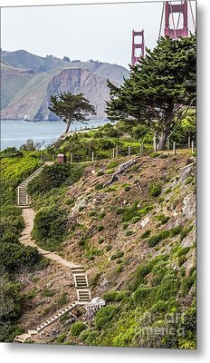 Golden Gate Trail Metal Print by Kate Brown