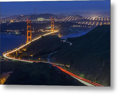 Golden Glow Metal Print by Rick Berk