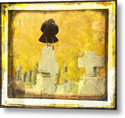 Golden Gothic Metal Print by Gothicrow Images