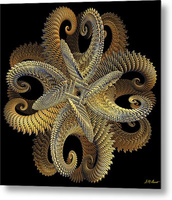 Golden Grace Metal Print
