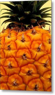 Golden Hawaiian Pineapple Metal Print by James Temple