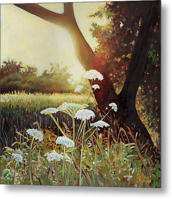 Golden Hedgerow Metal Print by Helen White