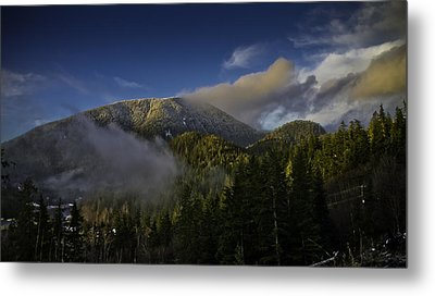 Metal Print featuring the pyrography Golden Hills Before Sunset. by Timothy Latta
