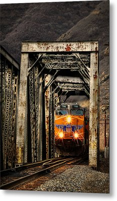 Metal Print featuring the photograph Golden Hour Crossing by Ken Smith