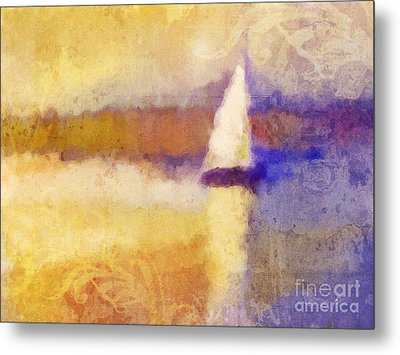 Golden Hour Sailing Metal Print