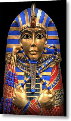 Golden Inner Sarcophagus Of A Pharaoh Metal Print by Daniel Hagerman