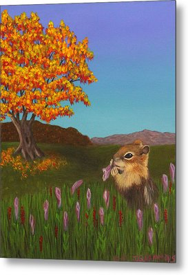 Golden Mantled Squirrel Metal Print