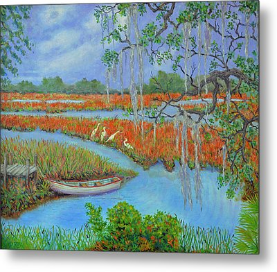 Golden Marsh 2 Metal Print