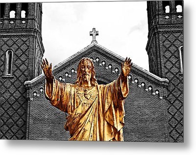 Golden Messiah Metal Print by Andy Crawford