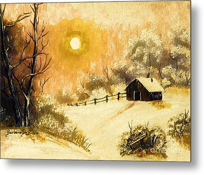 Golden Morning Metal Print by Barbara Griffin