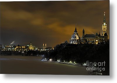 Golden Night... Metal Print by Nina Stavlund