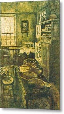 Golden Old Fashioned Kitchen Metal Print by Kendall Kessler