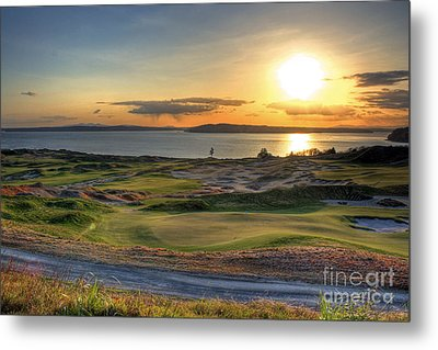 Metal Print featuring the photograph Golden Orb - Chambers Bay Golf Course by Chris Anderson