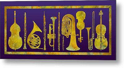 Golden Orchestra Metal Print