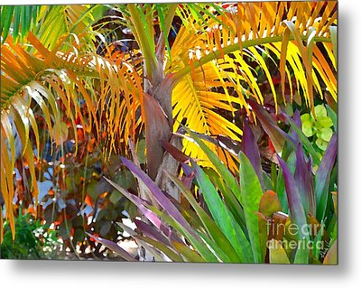 Metal Print featuring the photograph Golden Palm 2 by Darla Wood
