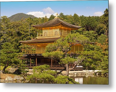 Metal Print featuring the photograph Golden Pavilion by Cassandra Buckley