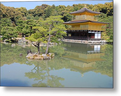 Golden Pavilion Metal Print