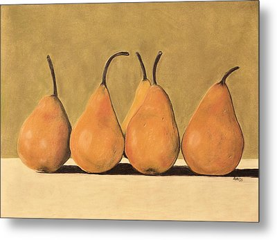 Golden Pears  Metal Print