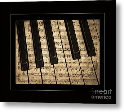 Golden Pianoforte Classic Metal Print by John Stephens
