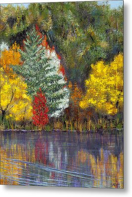 Metal Print featuring the painting Autumn Tapestry by Margaret Bobb
