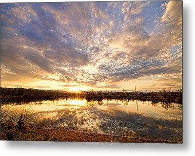 Golden Ponds Scenic Sunset Reflections Metal Print by James BO  Insogna