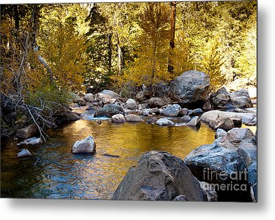 Golden Pool On Roaring River  1-7797 Metal Print