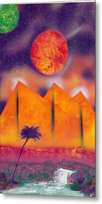 Golden Pyramid Sunrise Metal Print by Marc Chambers