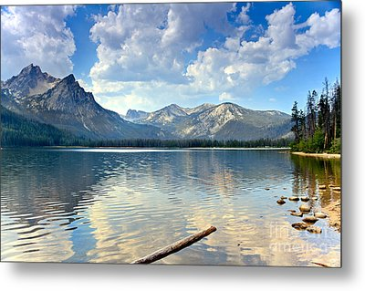 Golden Reflections On Stanley  Lake Metal Print by Robert Bales