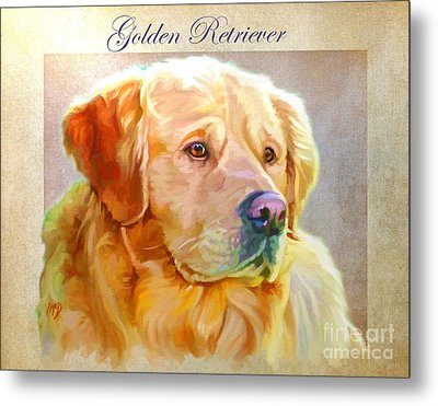 Golden Retriever Painting Metal Print by Iain McDonald